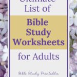 Bible Study Worksheets for Adults mockup