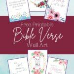 Bible verse wall art mockup
