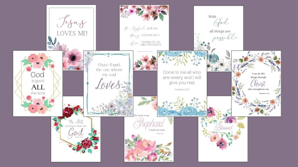 Printable Bible Verses for Encouragement mockup