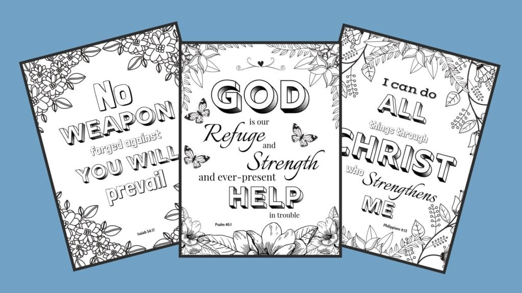 bible verse coloring pages mockup