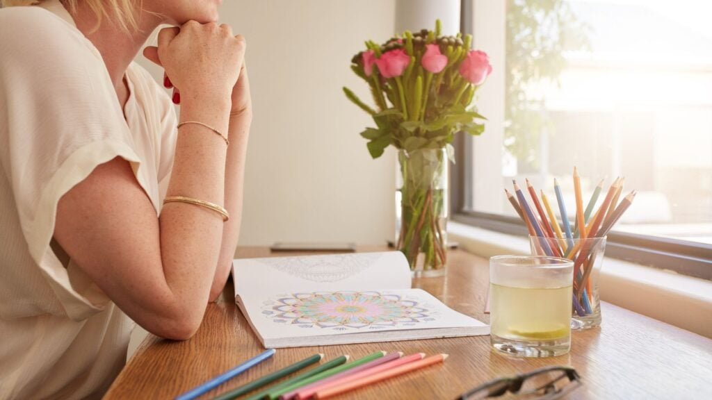 woman praying over bible verse coloring pages