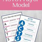 ACTS Prayer Model mockup
