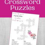 Bible Crossword Puzzle Mockup