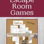 Bible Escape Room mockup with red outline