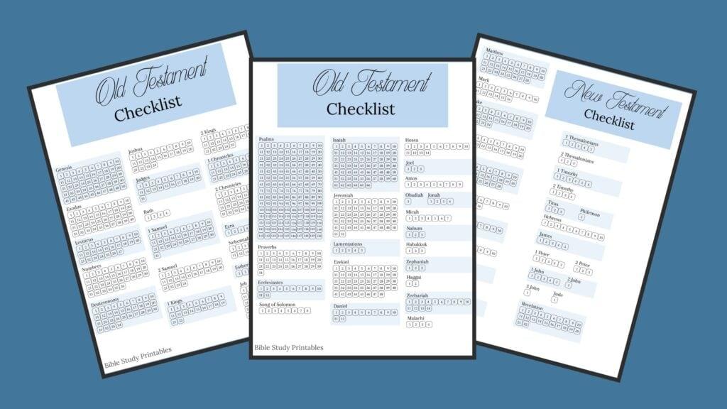 Bible Reading Checklist mockup