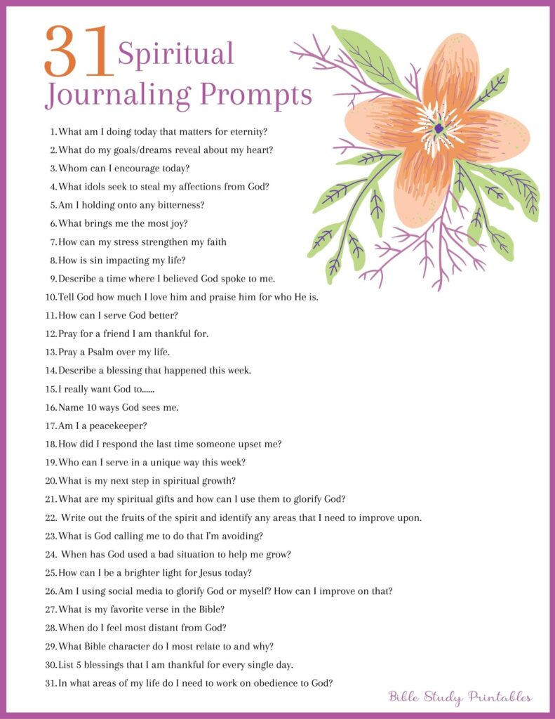 Christian Journaling Prompts