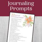 Christian Journaling Prompts mockup