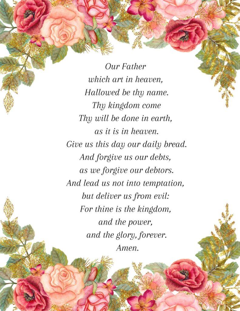 KJV Printable Lord's Prayer