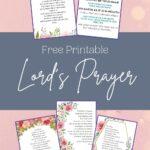 Lord's Prayer Printable Mockup