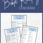 Printable Bible Reading Checklist Mockup