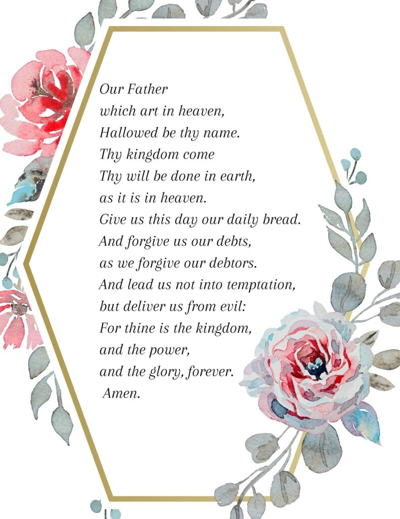Printable Lord's Prayer KJV