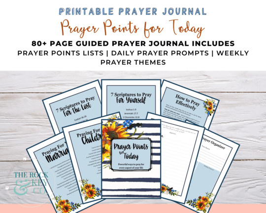 Printable Prayer Points for Today Prayer Journal mockup