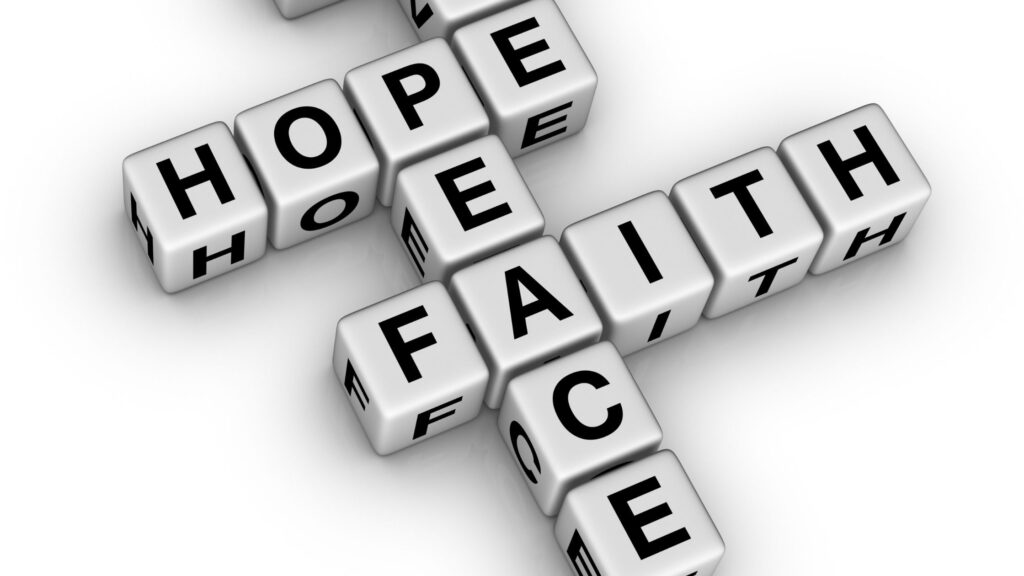 crossword puzzle with hope and faith words