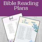 April Bible Reading Plans
