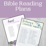 August Bible Reading Plans mockup