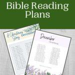 December Bible Reading Plan mockup