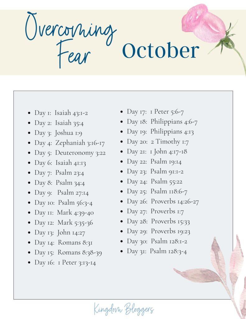 October Bible Reading Plan