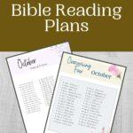 October Bible Reading Plan mockup