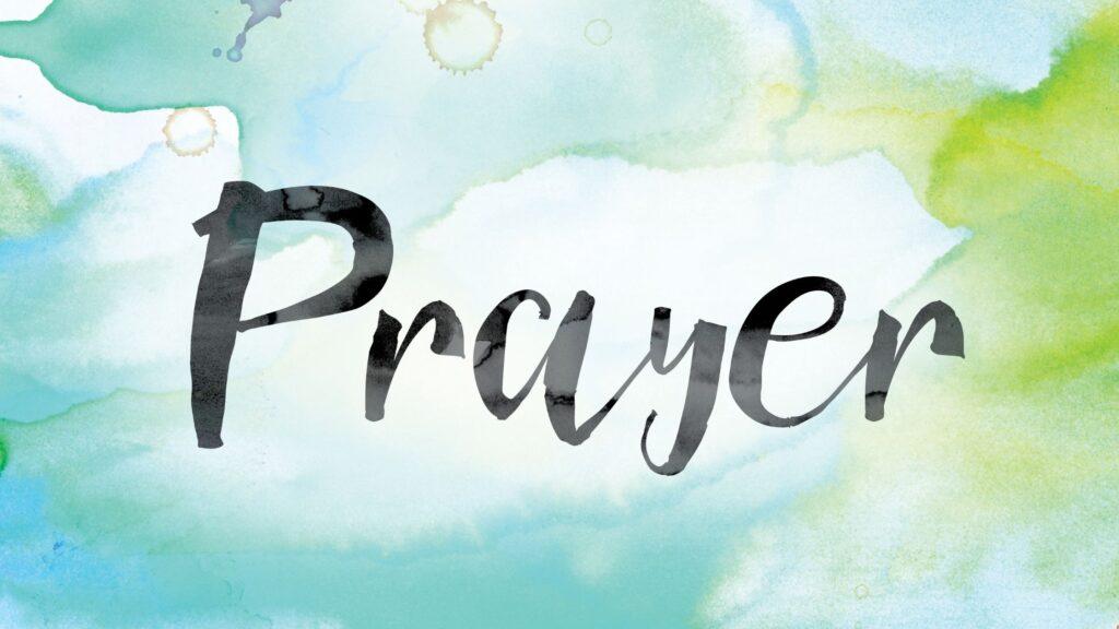 Prayer written on green background