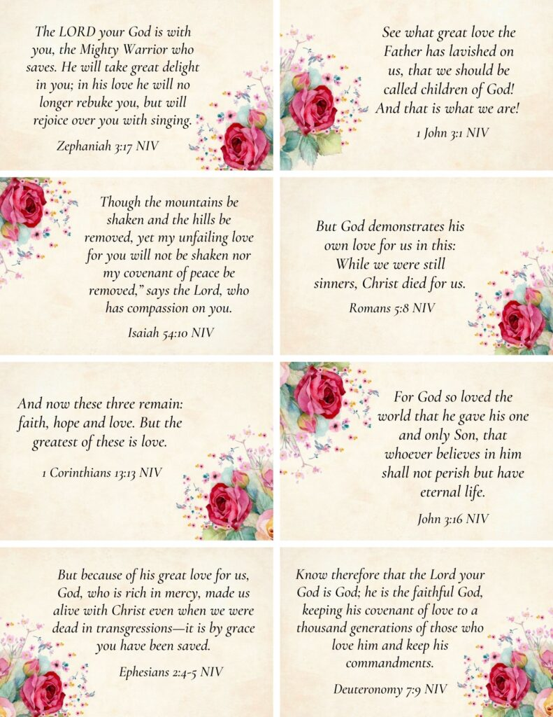 Printable Scripture Cards for Love