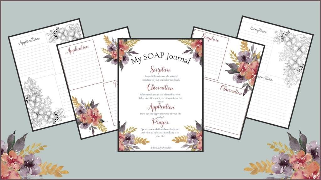 SOAP Bible Study Method worksheets mockup