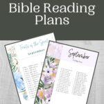 September Bible Reading Plan mockup