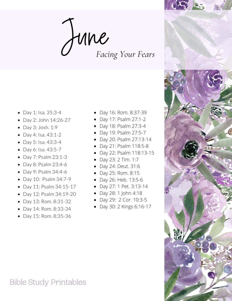 June Bible Reading Plan
