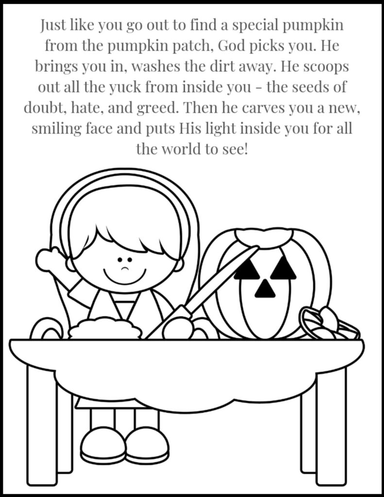 Pumpkin Parable Christian Halloween Coloring Page
