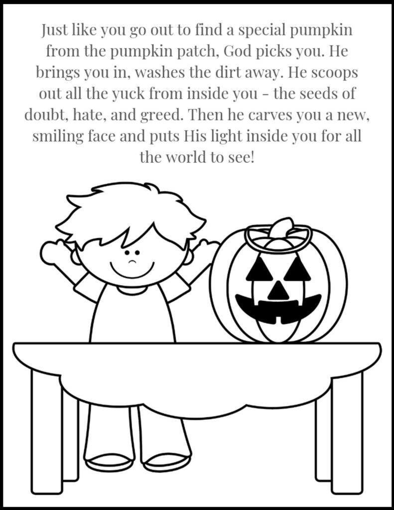 Christian Halloween Coloring Page