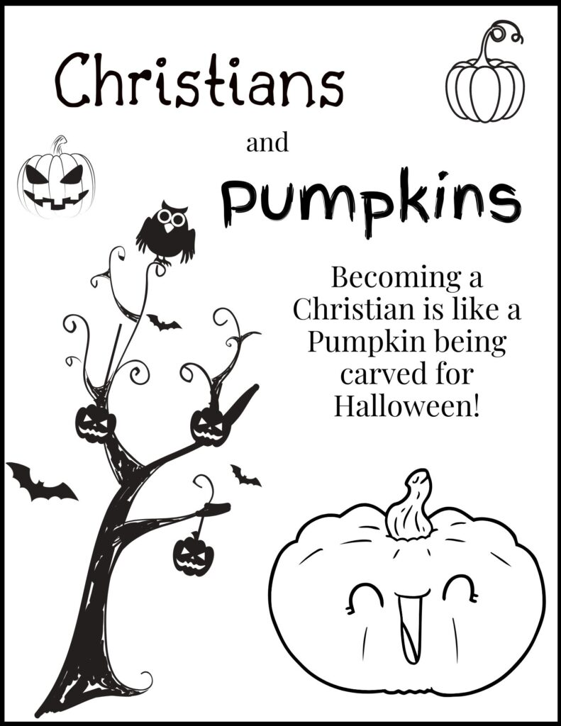 Christians and Pumpkins Halloween Coloring Book