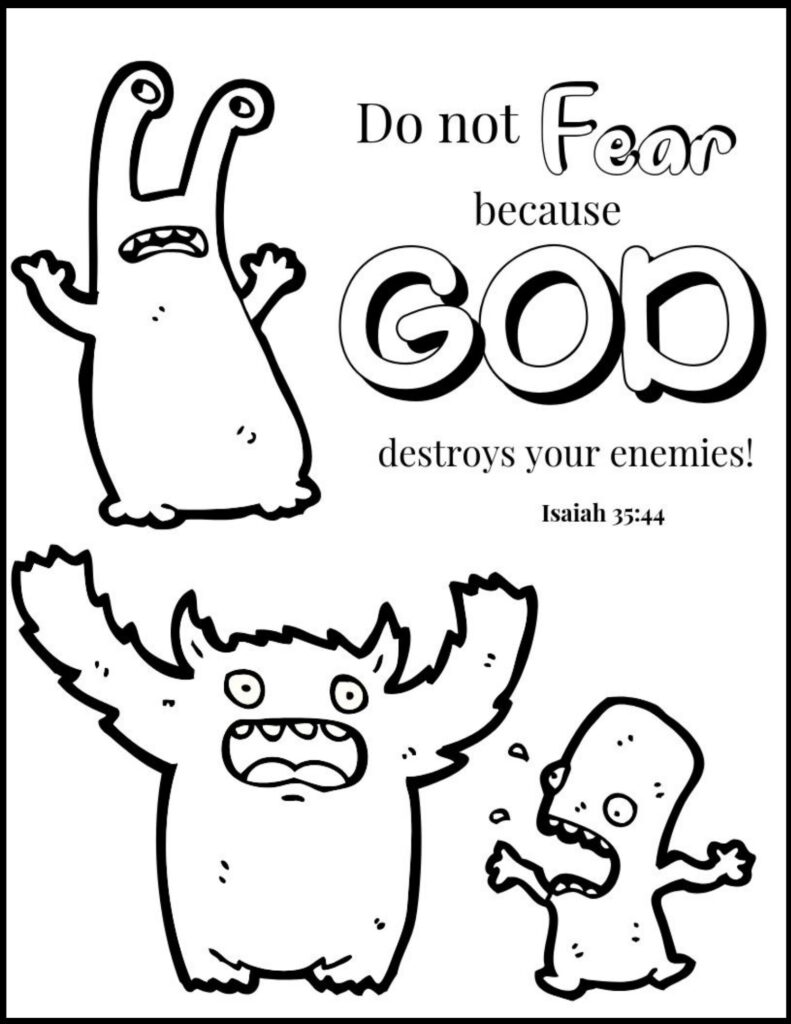 Do Not Fear Christian Halloween Coloring Page