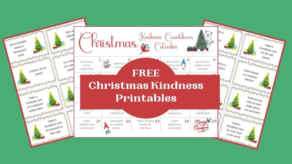Free Christmas Kindness Printables mockup