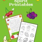 Free Fruit of the Spirit Printables