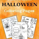 Free Printable Christian Halloween Coloring Page