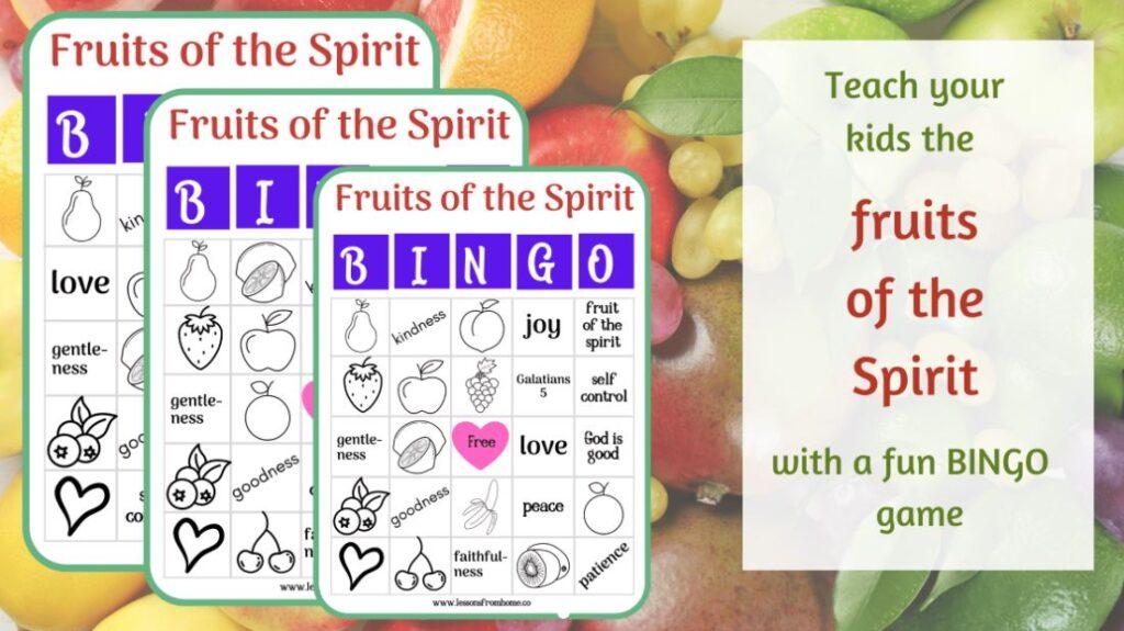 Fruit of the Spirit Bible Bingo