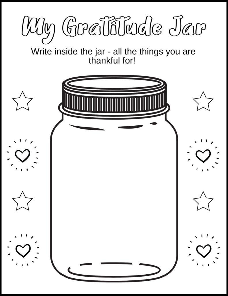 Gratitude Jar Worksheet