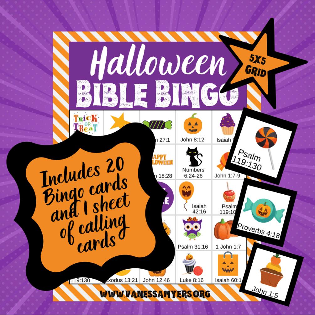 Halloween Bible Bingo