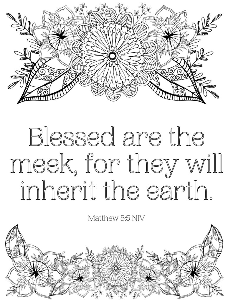 Beatitudes Coloring Page