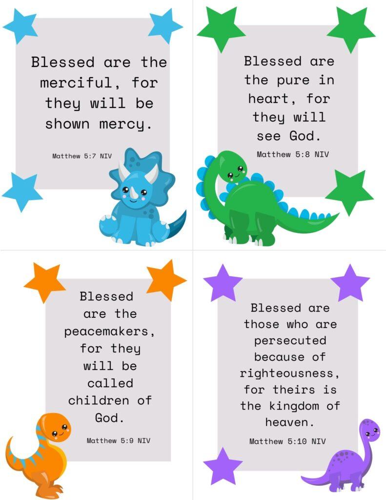 Printable Beatitudes for Kids