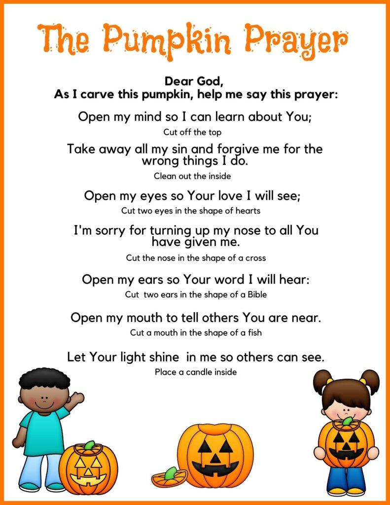 Printable Pumpkin Prayer Poem